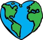 earth heart in love with aplanet