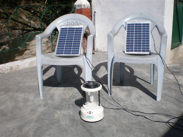 Solar lanterns at Mr. Negi's Mandakini Magpie Birdwatchers camp