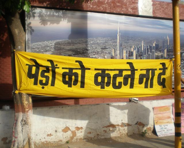 slogan - trees for delhi banner