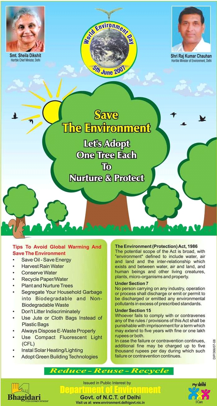 environment day greetings to all  delhi government s environment day greetings