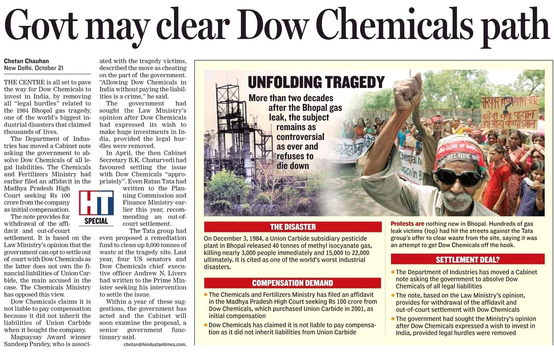 HT on Dow Chemicals