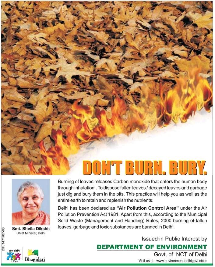 Don't burn, bury